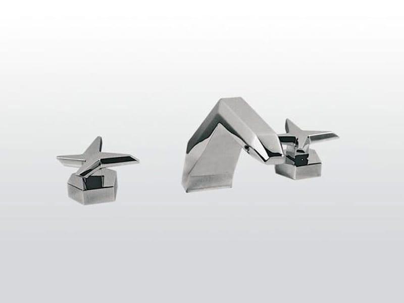 3 hole chrome-plated bathtub set STELLA   3255 by RUBINETTERIE STELLA