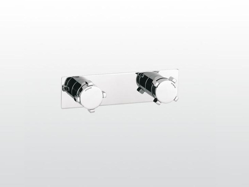 2 hole shower tap with plate ASTER | 3292PS by RUBINETTERIE STELLA