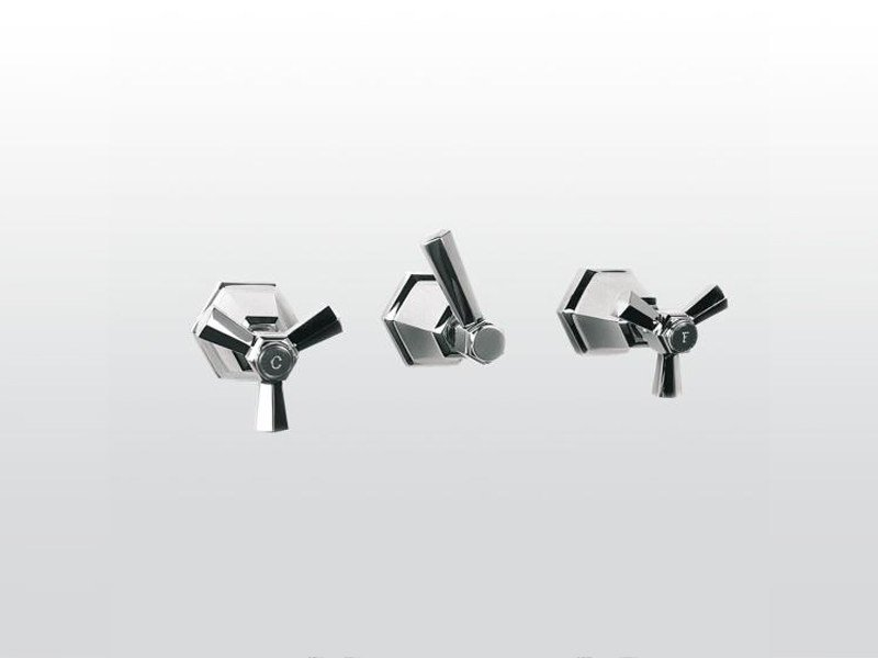 3 hole wall-mounted bathtub tap ECCELSA 3254 by RUBINETTERIE STELLA