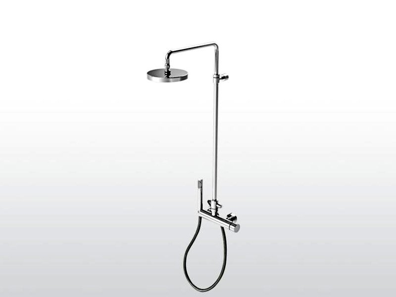 Shower tap with hand shower with overhead shower BAMBOO | 3283TB-TA/306 by RUBINETTERIE STELLA