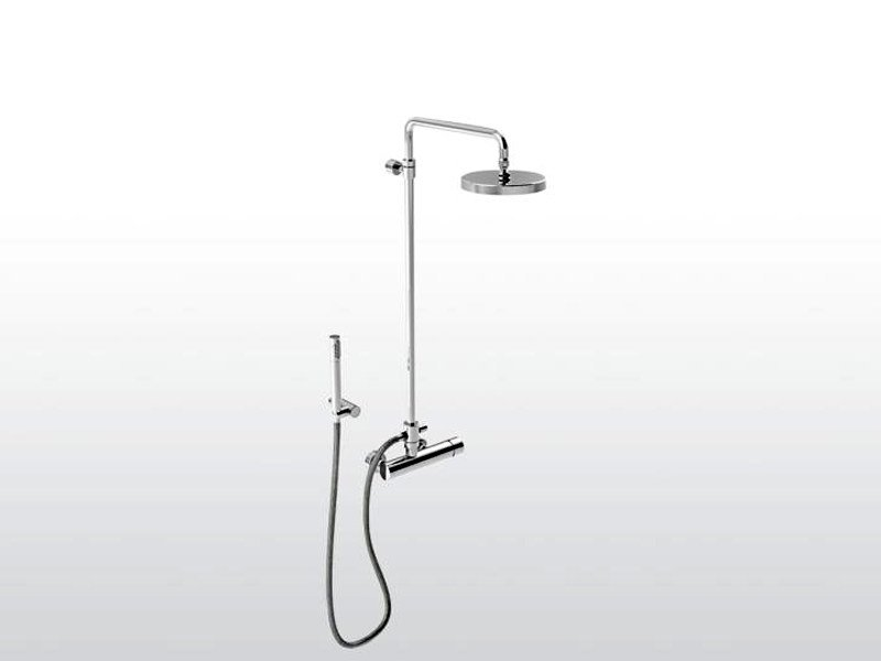 Shower tap with hand shower with overhead shower BAMBOO | Shower tap with overhead shower by RUBINETTERIE STELLA