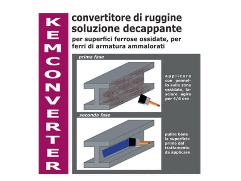 Rust prevention and converter product KEMCONVERTER by COLORIFICIO ATRIA