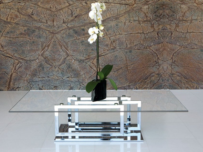 Contemporary style glass coffee table for living room EXCELSIOR by Italy Dream Design
