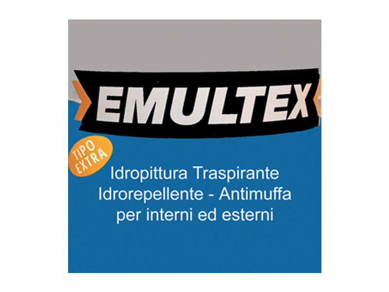 Breathable water-based paint EMULTEX EXTRA TAPPO BLU by COLORIFICIO ATRIA