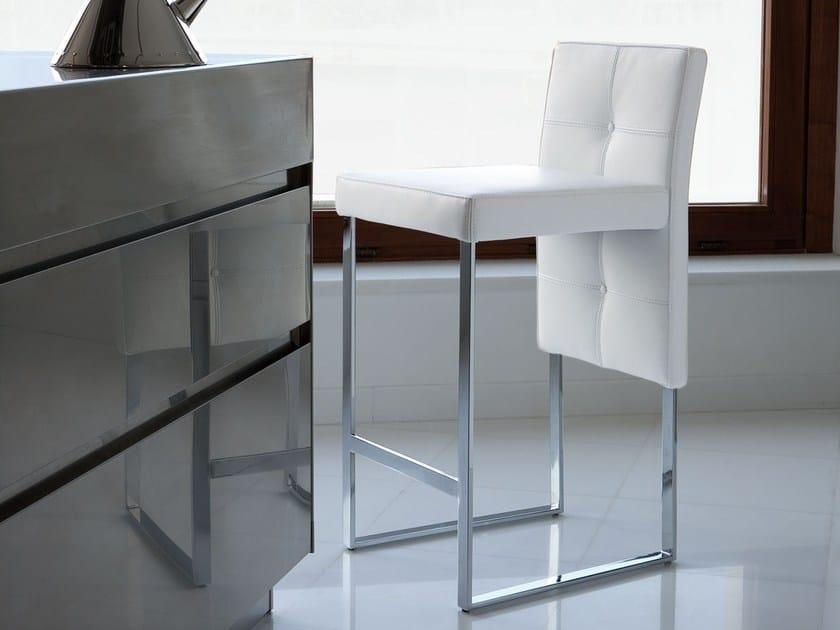 Sgabello Pelle Moderno Stile A Alto Italy Imbottito Dream In Design Montecarlo Slitta OPikuXZT