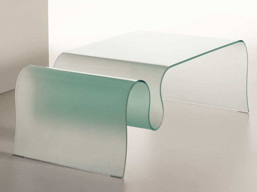 Glass coffee table for living room ONDA by Italy Dream Design