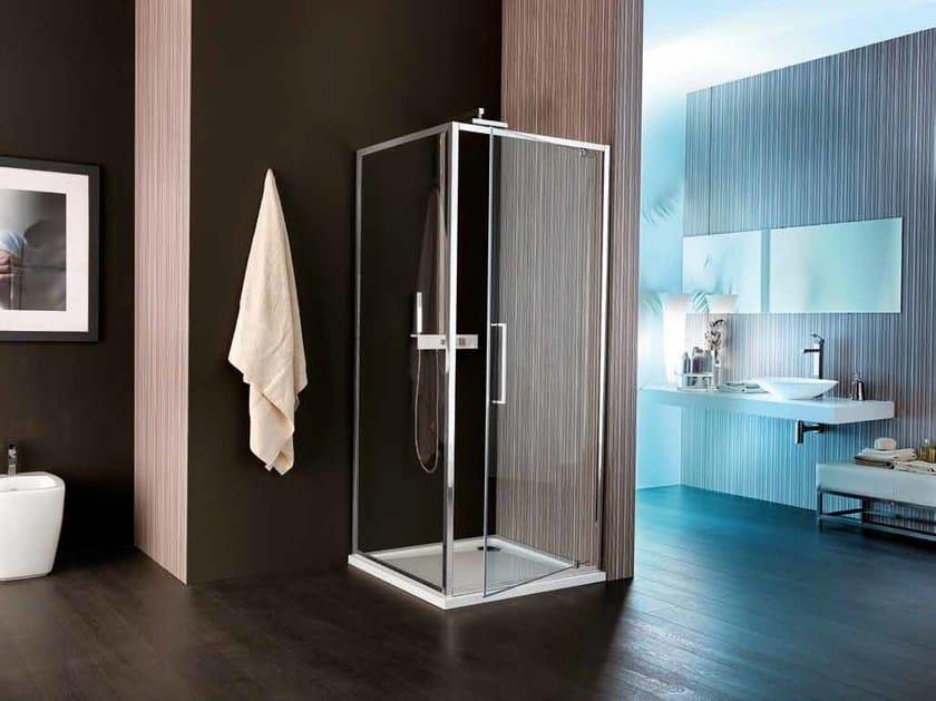 Corner shower cabin with hinged door VIS | Shower cabin with hinged door by Samo