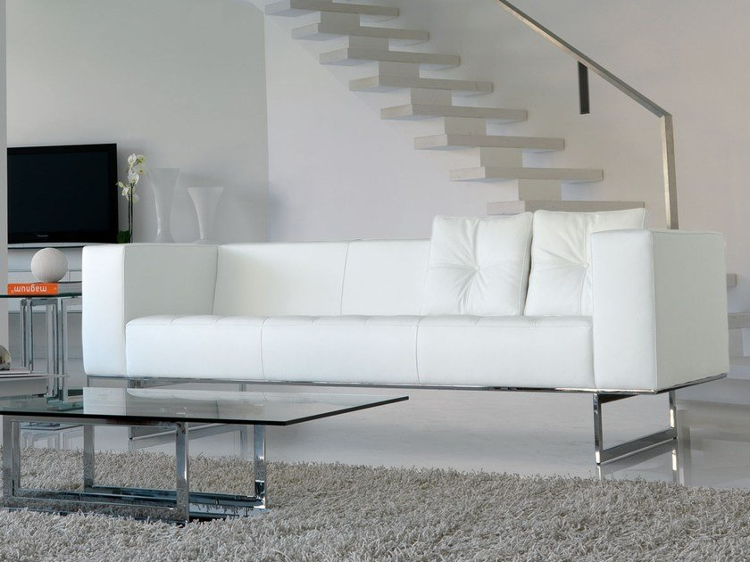 Contemporary style 3 seater leather sofa DIPLOMAT3 | 3 seater sofa by Italy Dream Design