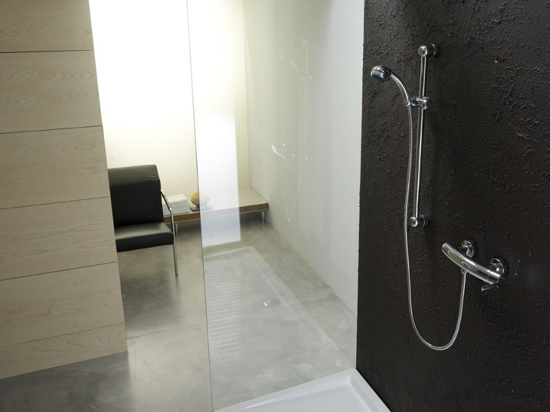Shower wallbar with hand shower with mixer tap GENESYS | Shower wallbar by Gattoni Rubinetteria