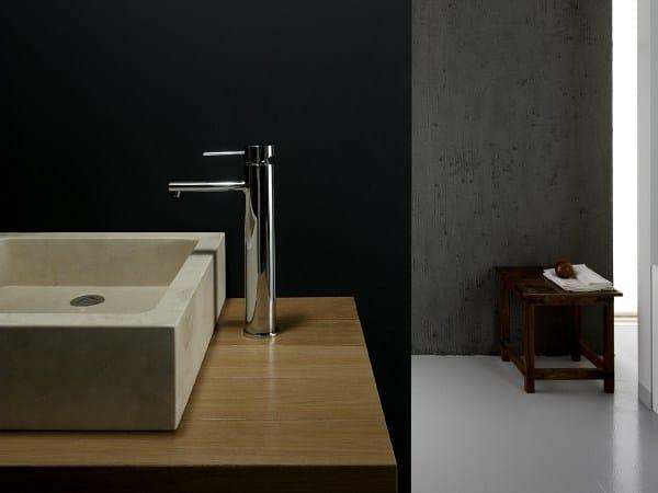 Countertop single handle washbasin mixer LOGOS   Countertop washbasin mixer by Gattoni Rubinetteria