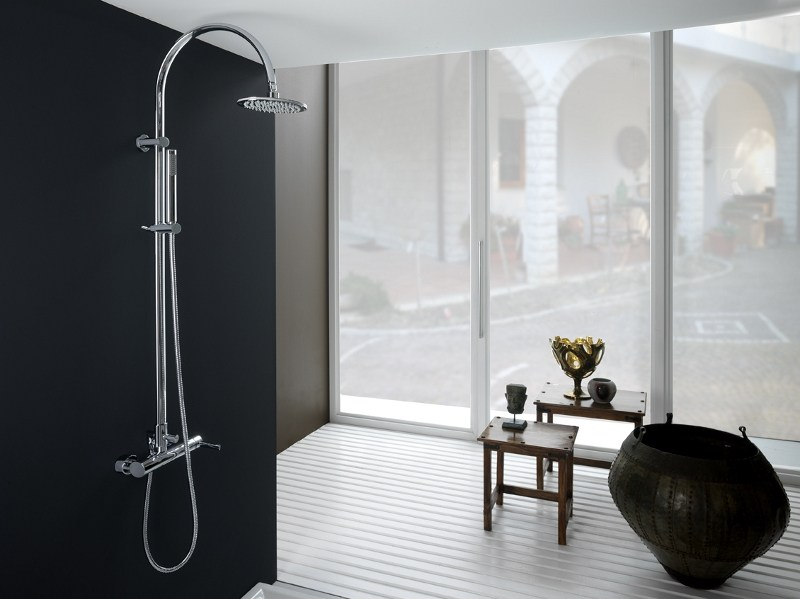 Shower panel with overhead shower LOGOS | Shower panel by Gattoni Rubinetteria