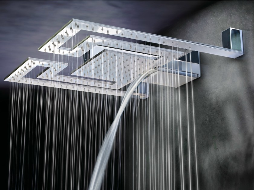 Wall-mounted overhead shower LABYRINTH by Gattoni Rubinetteria