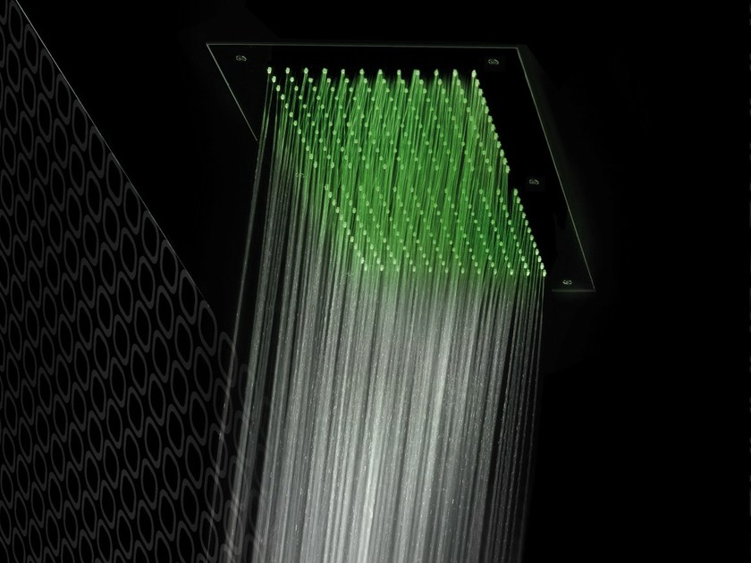 Ceiling mounted overhead shower for chromotherapy FLAT   Overhead shower by Gattoni Rubinetteria
