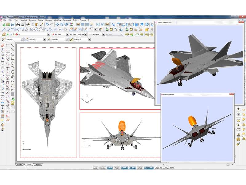 CAD NAMIRIAL CAD Namirial - Esempio gestione disegni sfaccettati complessi e visualizzazione renderizzata