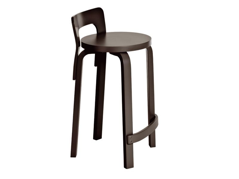High wooden stool K65 | Stool by Artek