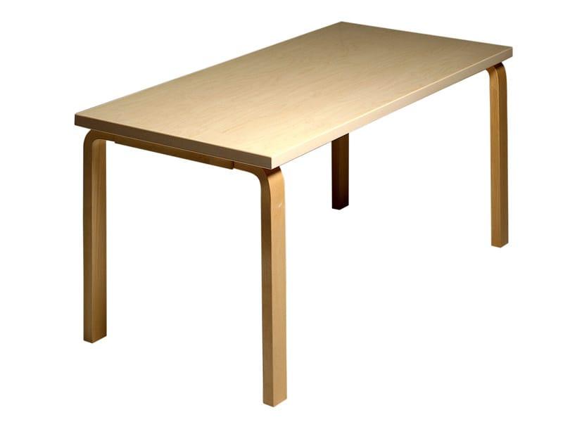 Rectangular wooden table 81A   Rectangular table by Artek