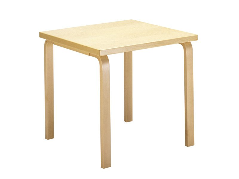 Square wooden table 81C   Square table by Artek