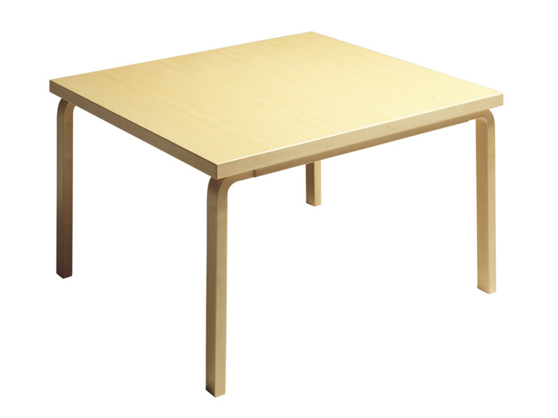 Square wooden table 84 | Square table by Artek