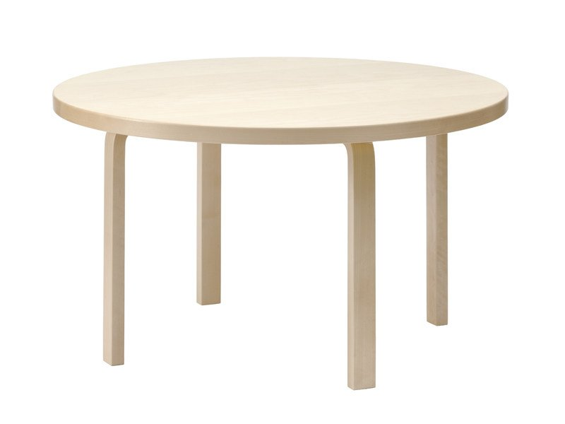 Round wooden table 91 | Round table by Artek