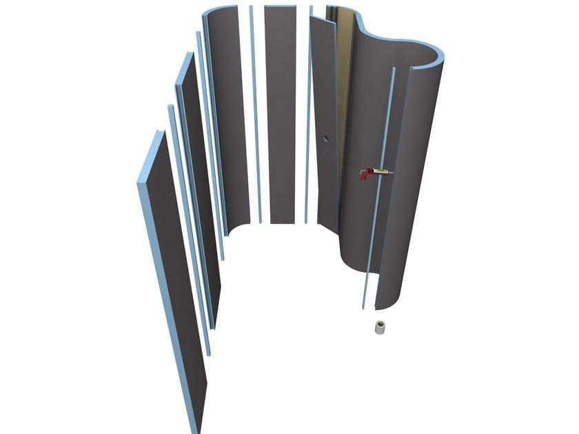 Movable wall MOLTOROMO by Wedi Italia