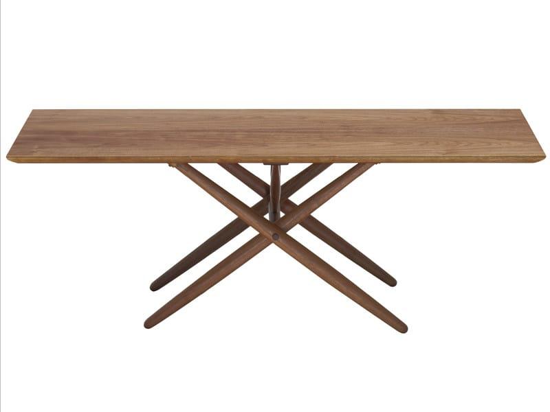 Rectangular wooden table DOMINO by Artek