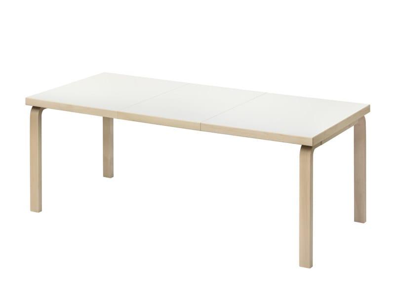 Extending rectangular wooden table 97 | Extending table by Artek