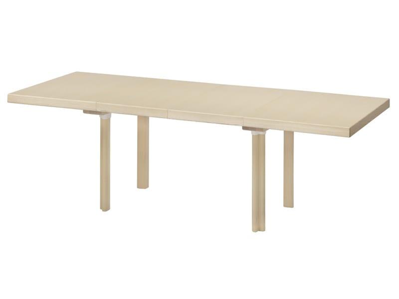Extending rectangular wooden table EXTENSION TABLE by Artek