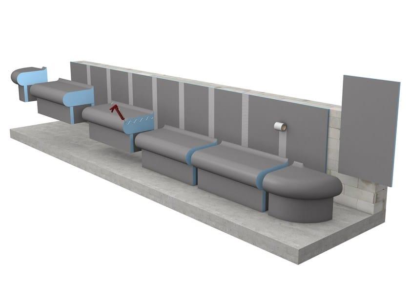 Fixed spa bench BELLINA by Wedi Italia