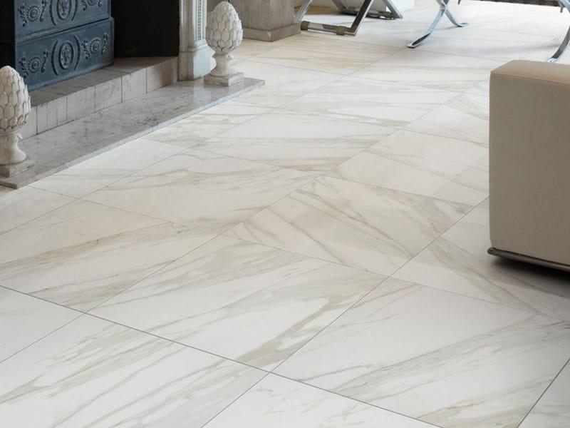 Pavimento in gres porcellanato effetto marmo evolutionmarble marazzi