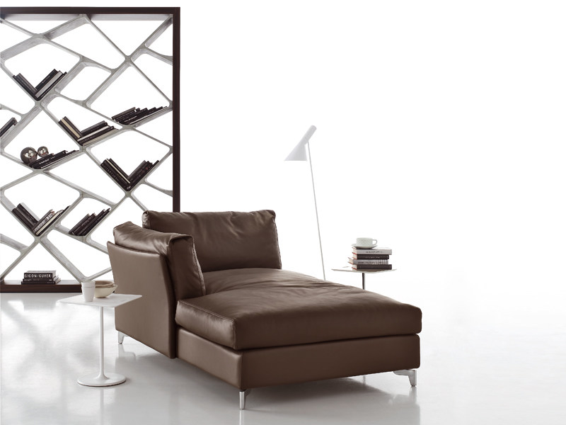Upholstered leather day bed BAHIA   Day bed by ALIVAR