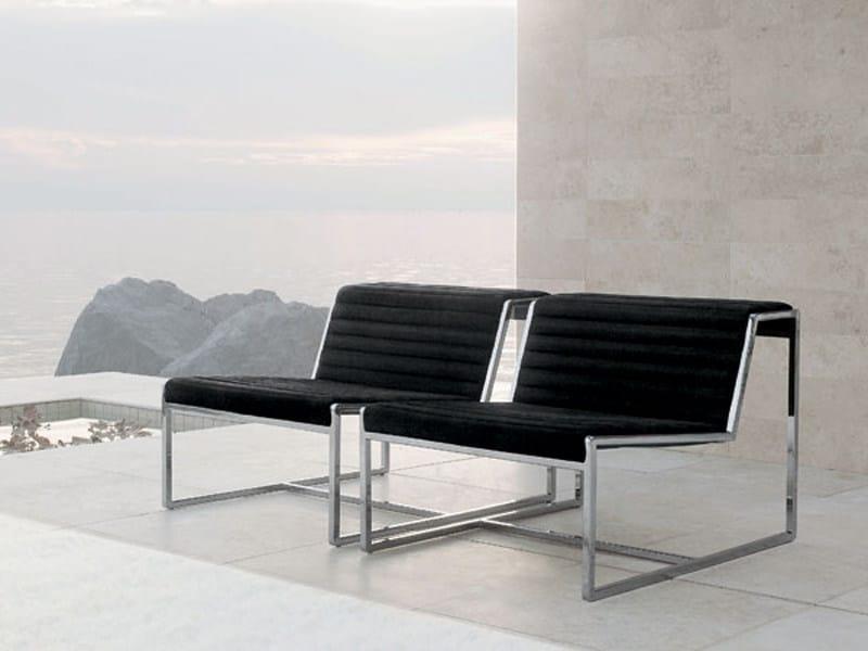 Upholstered steel armchair ATLANTA   Armchair by ALIVAR