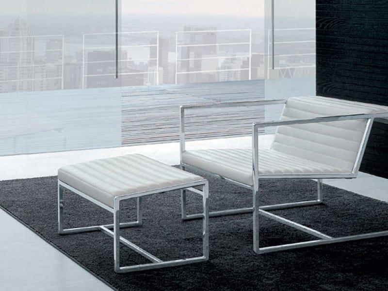 Steel footstool ATLANTA | Footstool by ALIVAR