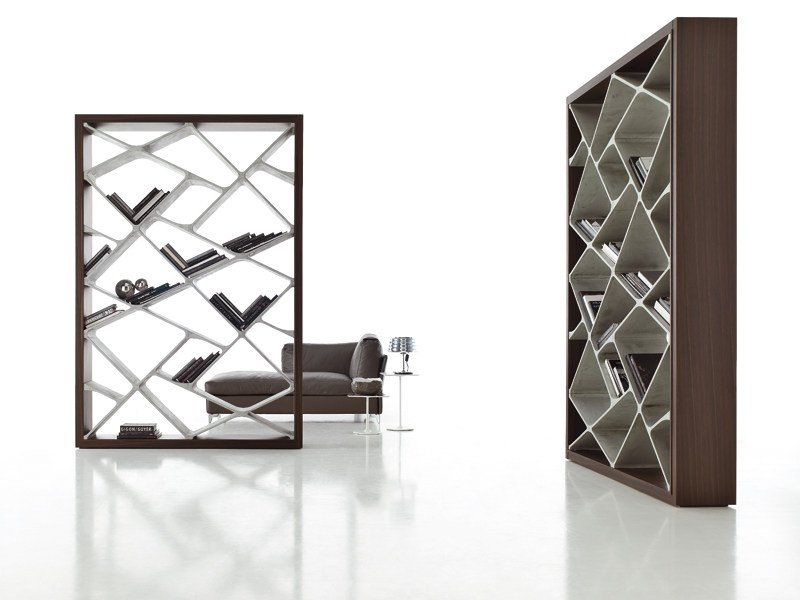 Freestanding double-sided bookcase SHANGHAI by ALIVAR