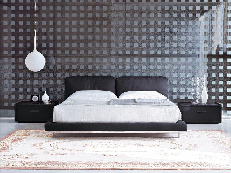 Bed with upholstered headboard ECHO by ALIVAR