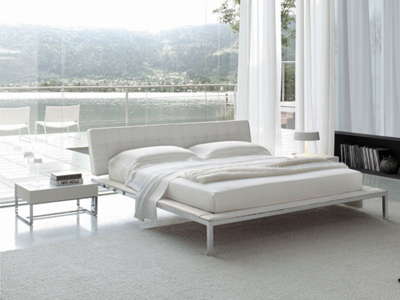Upholstered bed with upholstered headboard KENDO by ALIVAR