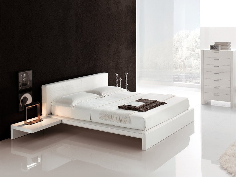 Double bed with upholstered headboard PLAZA by ALIVAR