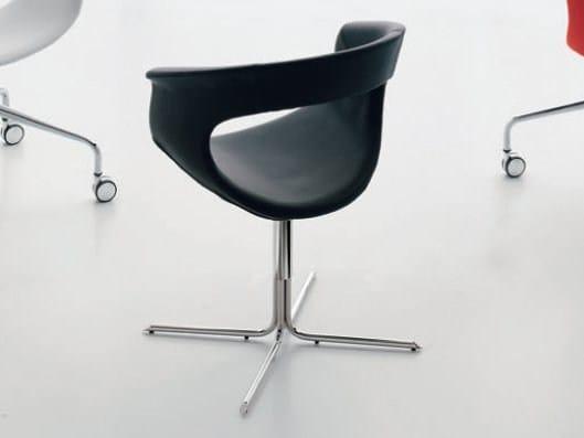 Polyurethane chair VANITY | Chair with 4-spoke base by ALIVAR
