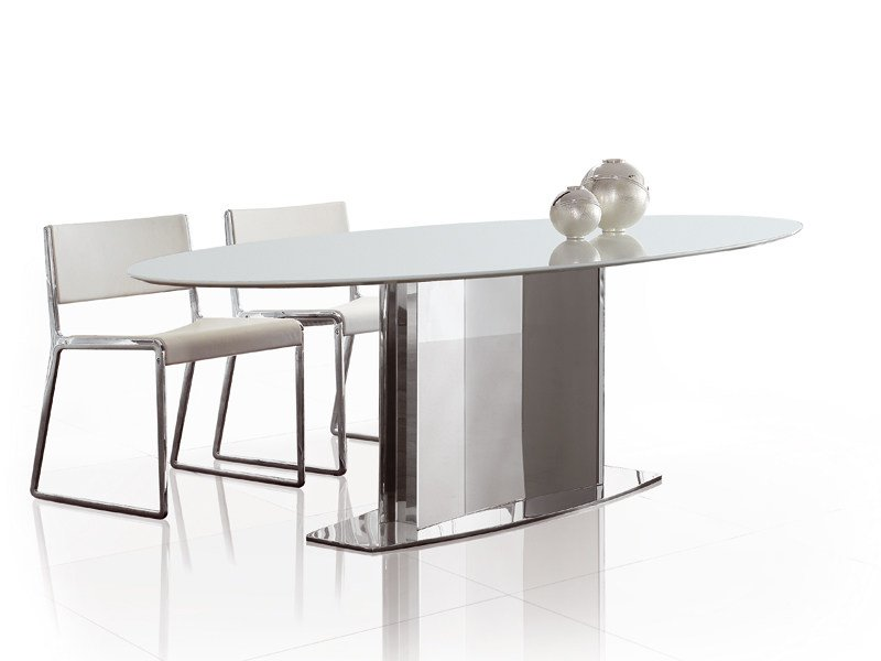Oval stainless steel table LOTO | Oval table by ALIVAR