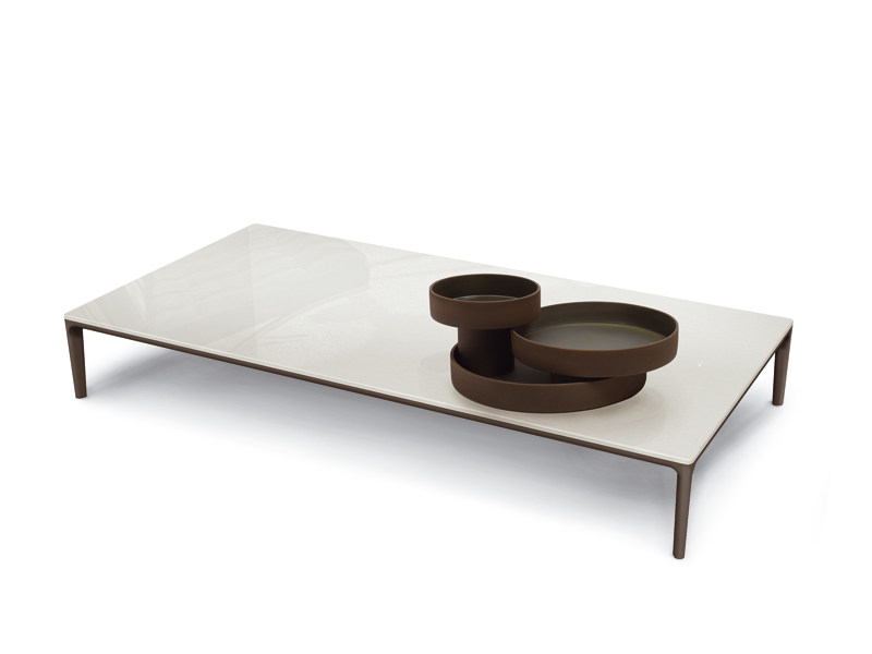 Low coffee table for living room POGGIO | Rectangular coffee table by ALIVAR
