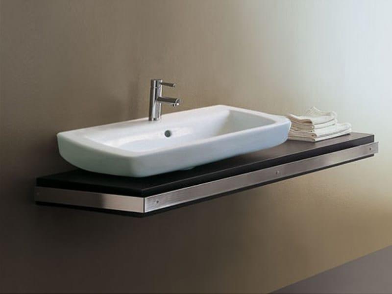 Wooden washbasin countertop Washbasin countertop by GSG Ceramic Design