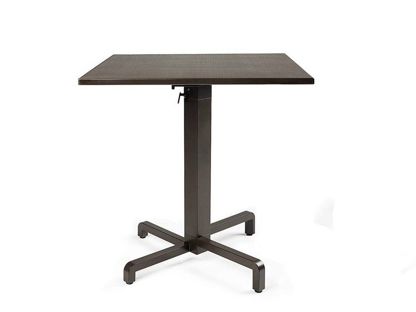 Contemporary style drop-leaf stackable aluminium contract table IBISCO by Nardi