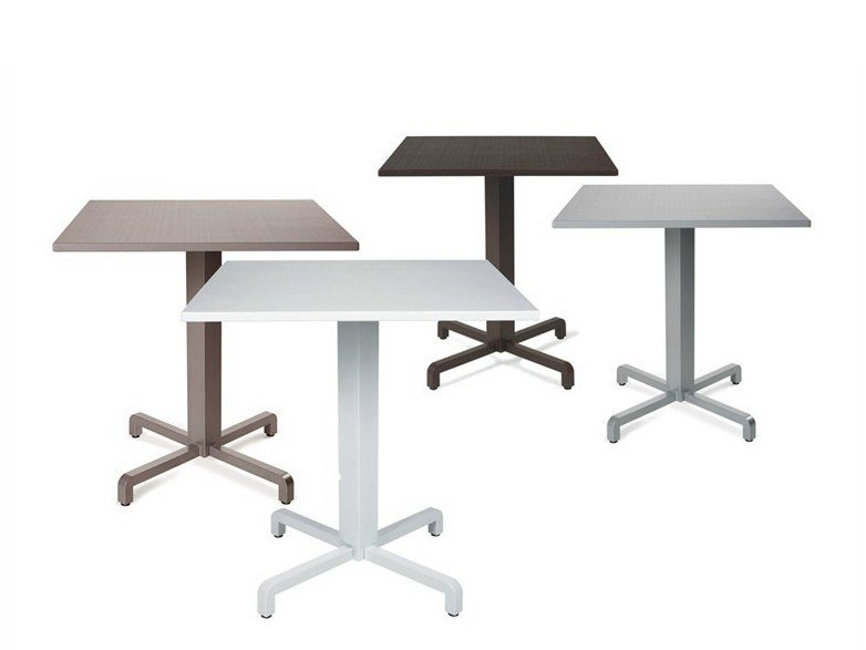 Powder coated aluminium garden table with 4-star base FIORE | Table by Nardi