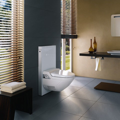 Tempered glass sanitary module for toilets monolith by for Geberit italia