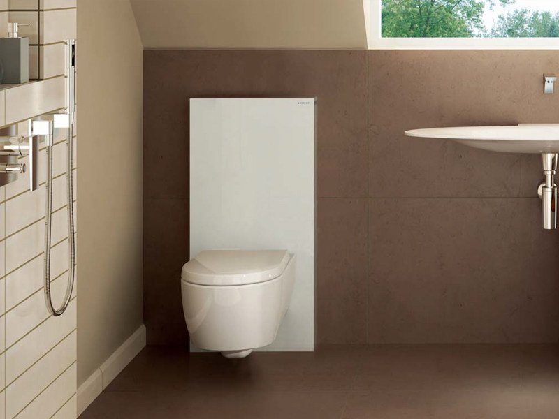 Sanit rmodul aus geh rtetem glas f r wc monolith by for Geberit italia