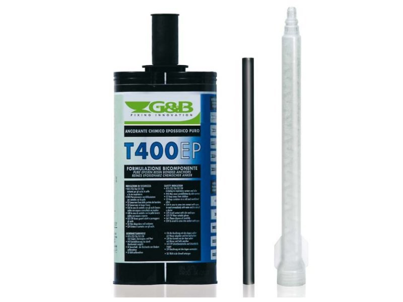 Pure epoxy resin for very high performances GEBOFIX T 400 EP by G&B Fissaggi