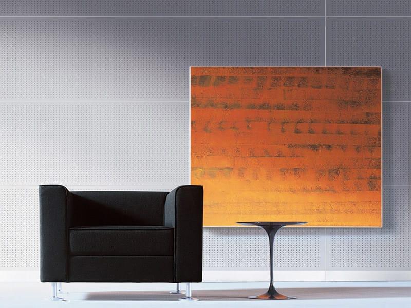 Sound absorbing melamine-faced chipboard wall tiles STILLWALL SYSTEM by FANTONI