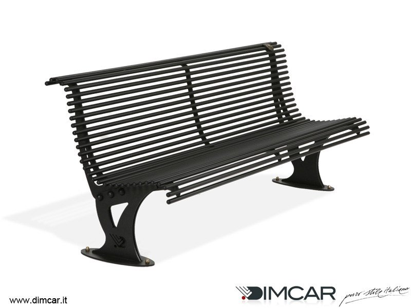 Contemporary style metal Bench with back Panchina Mira by DIMCAR