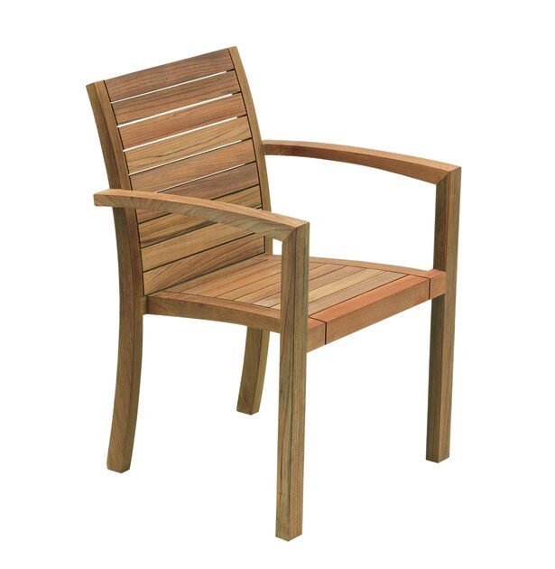 Teak garden chair with armrests IXIT | Garden chair by ROYAL BOTANIA