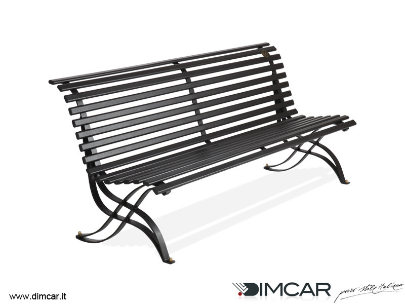 Contemporary style metal Bench with back Panchina Liberty by DIMCAR