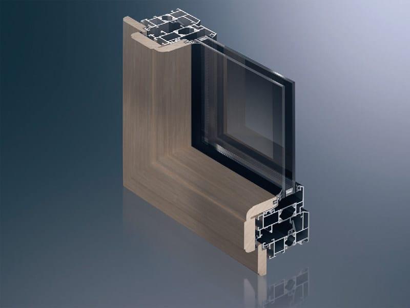 Aluminium and wood thermal break window Schüco AWS 75/85 TC by Schüco